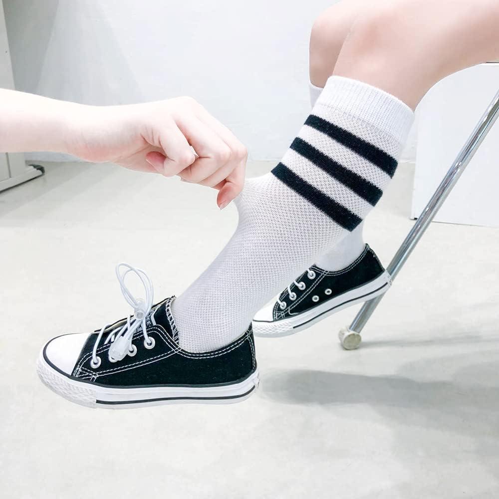 Kids Stripes High Tube Socks for boys Girls Toddler and Child Children's Socks Summer Unisex Toddler & Childs Cotton Socks