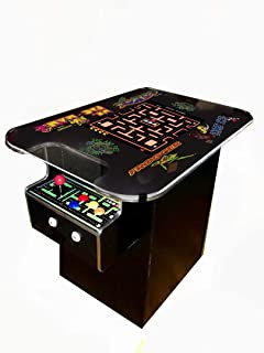 Cocktail Arcade Machine - 60 Retro Games - Full Size LCD Screen, Buttons and Joystick