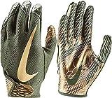 Nike Adult VaporKnit 2.0 Receiver Gloves 2018 (Olive/Gold, Large)