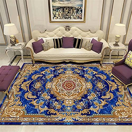 Kunsen alfombras Juveniles alfombras Salon Alfombra Azul Dormitorio Terciopelo bajo Rectangular Durable Personalizable Alfombra Bebe 200x250cm 6ft 6.7' X8ft 2.4'