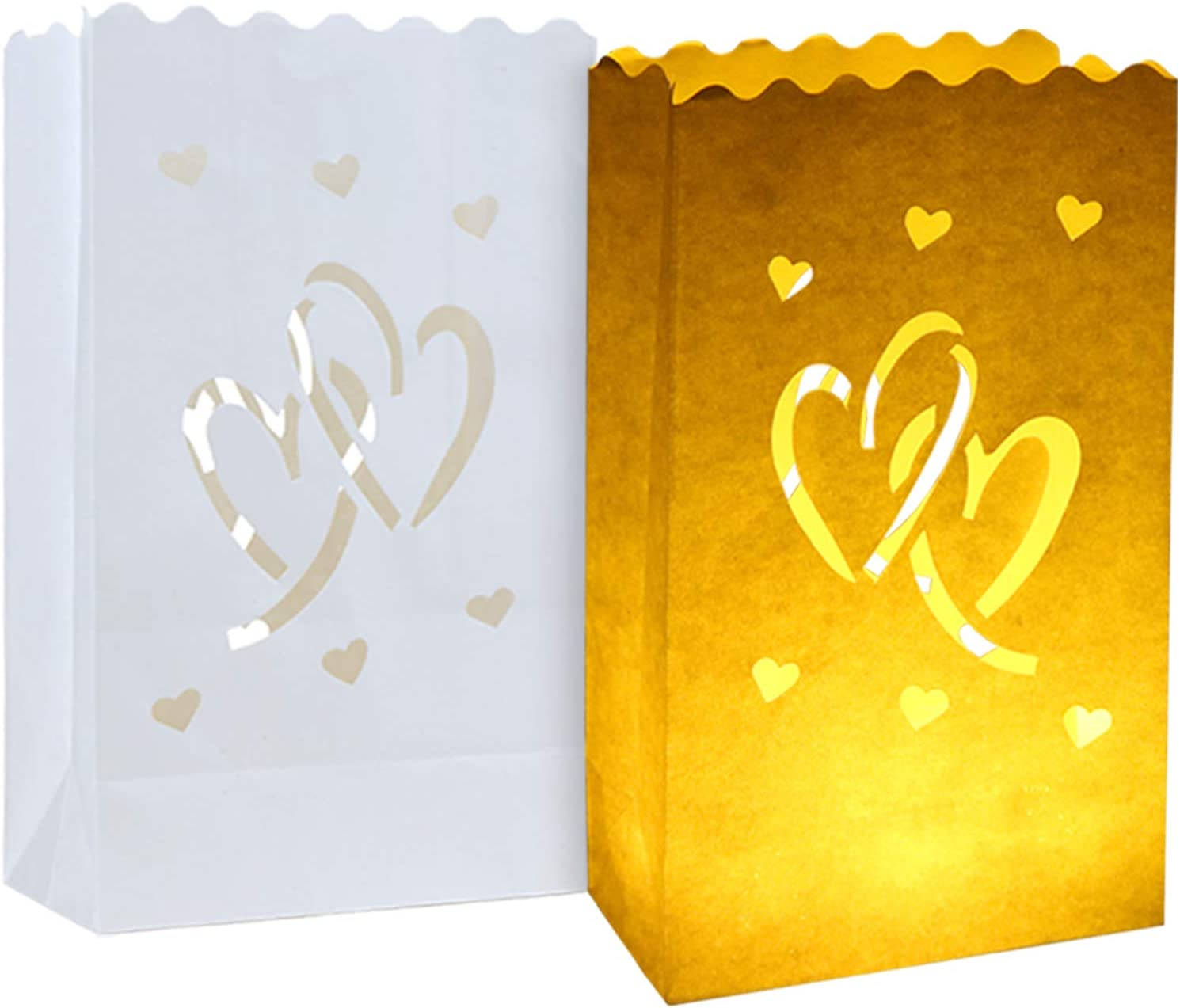 20pcs New Orleans Mall White Luminary Candle Sale Bags Bag Special Lantern wi