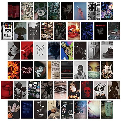 50 STKS Muur Collage Kit (4×6) Inch10x15cm Slaapkamer Muur Art Collage Foto, Trendy Decor Esthetische Poster, Dorm Foto…