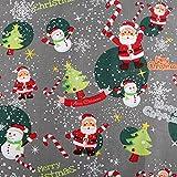 Baumwollstoff mit Weihnachtsmotiv in 160 cm Breite,