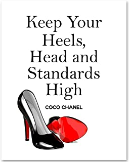 Keep Your Heels, Head and Standards High - 11x14 Unframed Art Print - Makes a Great Motivational Gift Under $15