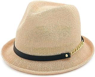 SHENTIANWEI Women Straw Sun Hat Spring Summer Jazz Hat Fedora Hat Sunshade Straw Hat Simple Curling Small Hat