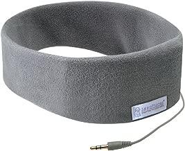 AcousticSheep SleepPhones Classic   Corded Headphones for Sleep, Travel, and More   The Original and Most Comfortable Headphones for Sleeping   Soft Gray - Fleece Fabric (Size M)