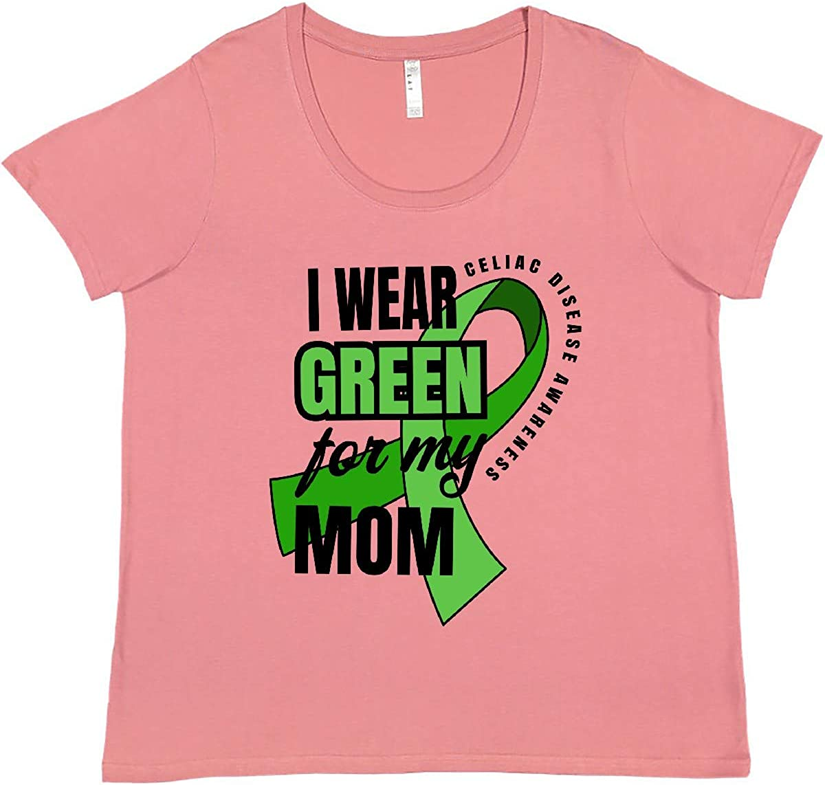 inktastic Celiac Disease Max 42% OFF I Wear Green Women's My for Plus Los Angeles Mall Mom Si