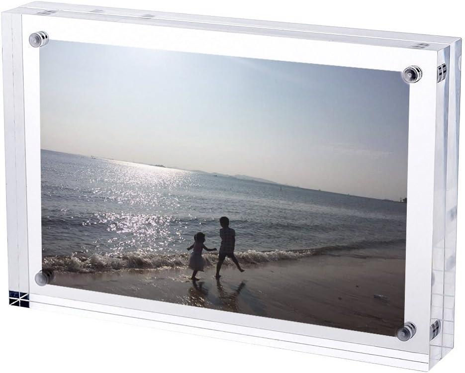 Ewaco Organizer 3.5x5 Under blast sales Inch Acrylic Magnet Picture Ranking TOP3 Frame Fr Photo