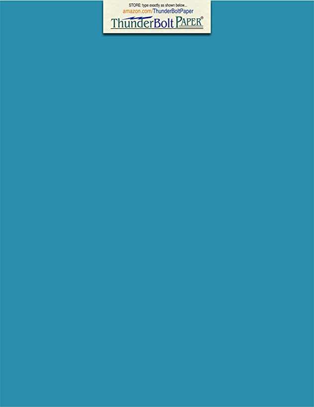 50 Bright Aqua Blue Cardstock 65lb Cover Paper - 9 X 12 Inches Frame and Sketch Pad Size - 65 lb/pound Light Weight Cardstock - Quality Smooth Paper Surface