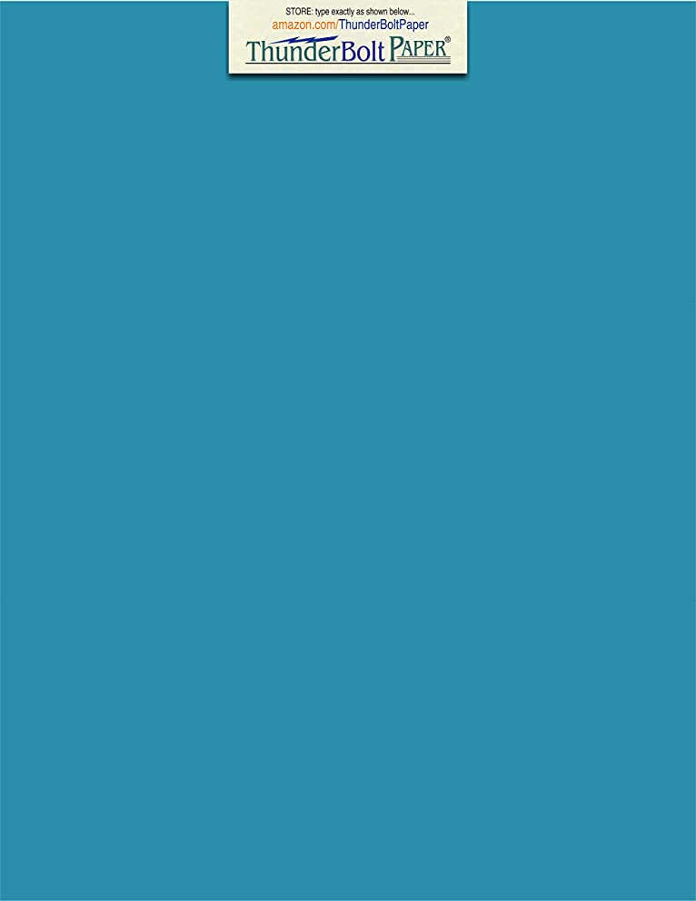 50 Bright Aqua Blue Cardstock 65lb Cover Paper 8.5 X 11 Inches Standard Letter Flyer Size - 65 lb/pound Light Weight Cardstock - Quality Smooth Paper Surface