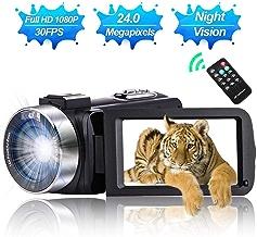 Camcorder Video Camera Full HD 1080P 30 FPS IR Night...