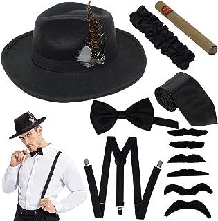 1920s Manhattan Mens Costume Accessories Gatsby Gangster Retro Set