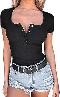 comprar comparacion Luckycat Camisetas Tirantes Mujer Basicas De Color SóLido Top Mujer Ocio Y Confort Camisetas Fiesta Mujer Simple Camisetas...