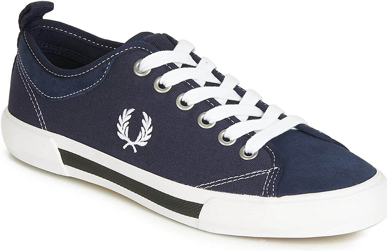 Frot Perry Horton Canvas Suede Turnschuhe Herren Blau Weiss Turnschuhe Low