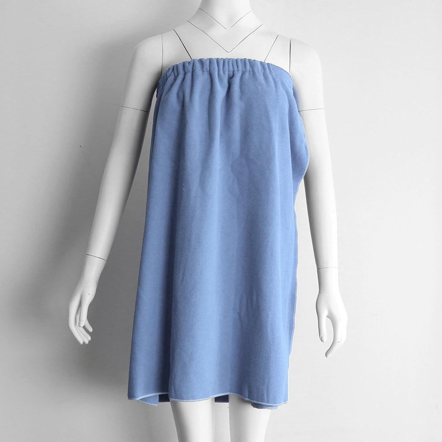 Baoblaze Comfort Women's Wrap Shower & Bath Spa Towel/Spa Shower Wrap/Bathrobe/Skirt -For Women - Light Blue oilyyuaevbi396
