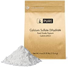 Calcium Sulfate (Gypsum) (4 oz.) by Pure Organic Ingredients, Eco-Friendly Packaging, for Multiple Uses Including Baking, Water Treatment, Gardening