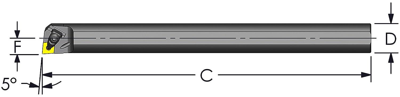 Ultra-Dex 5% OFF E16T DCLNR4 Carbide Pullback Boring Bar Ranking TOP9 Coolant Clamp