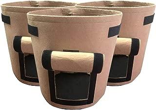 Bolsa De Plantación De Fresa De 7 Galones, Sembradora De Bolsas De Patata Ecológica Plantación De Macetas Recipiente De Siembra con Asas De Correa