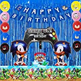 sonic birthday party decorations kit is enough for decorating a amazing sonic theme party.It's a good choice to save your money. COMBO FOR SONIC PARTY :We have combined all the necessities for a sonic party,the sonic birthday party supplies pack set ...