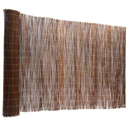casa pura Recinzione Giardino Legno - Frangivento Legno | Frangivista Giardino in Vimini Naturale a Rametti in Varie Misure - 200x300 cm