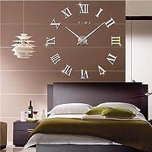 ساعات حائط فاشون إن ذا سيتي ميرور ثلاثية الأبعاد لتزيين الغرف (فضي)