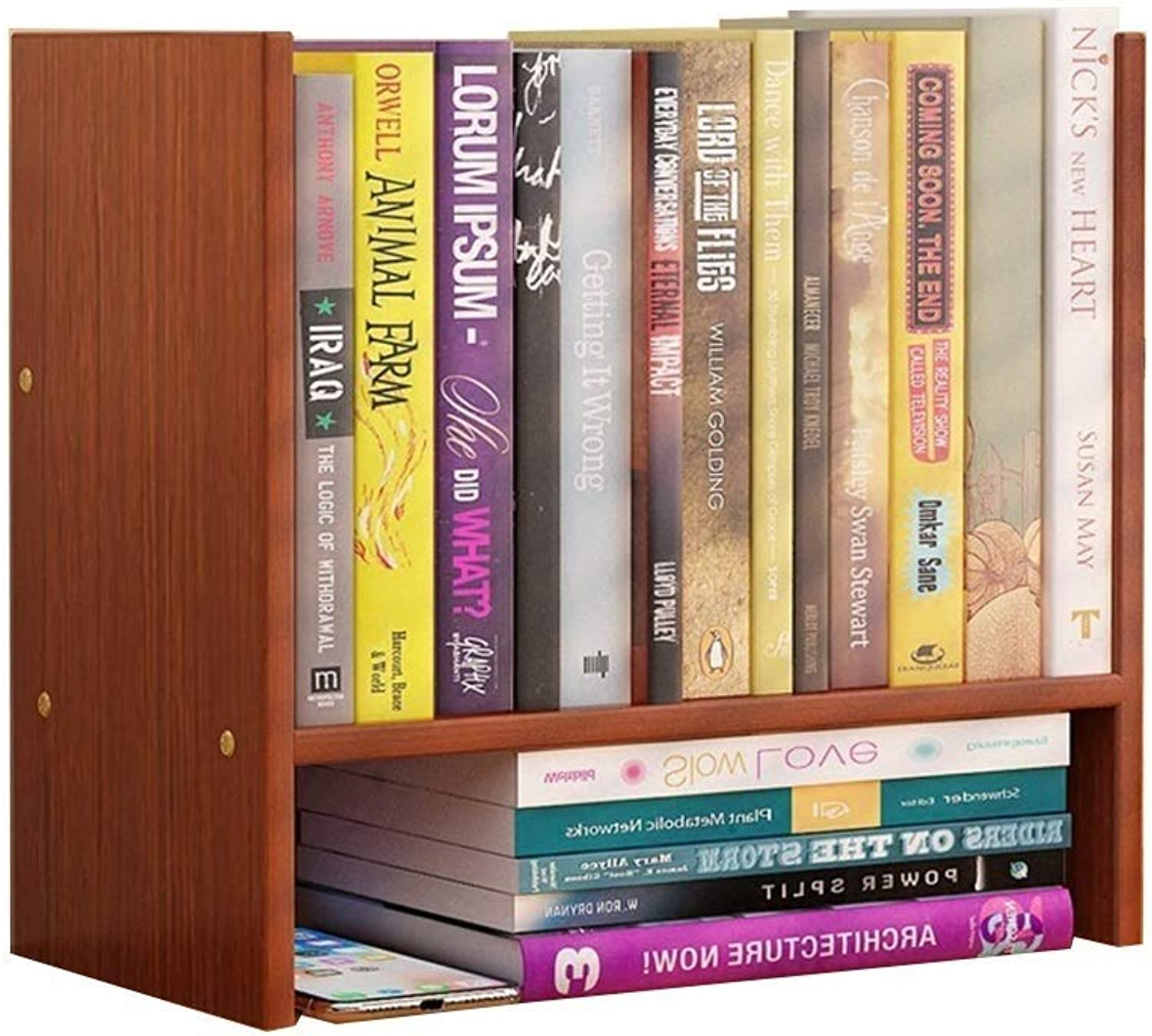 Kids Bookshelf Modern Simple Students Office Desktop Mini Bookshelf Shelf, 4 colors (color   B)