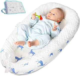 ANRRO Baby Lounger Baby Nest with 2 Covers, Co-Sleeping Baby Bassinet Ultra Soft & Breathable Portable Infant Bassinet for...