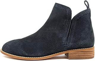 WALNUT Douglas Rose Leather Womens Shoes Flat Ankle Boots