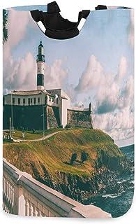 N\A Panier à Linge Grand Ocean Lighthouse Palmier Panier à Linge Pliable avec poignées Paniers pour paniers de Rangement d...