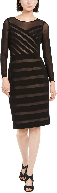 Adrianna Papell Women's Illusion Banded Sheath Dress