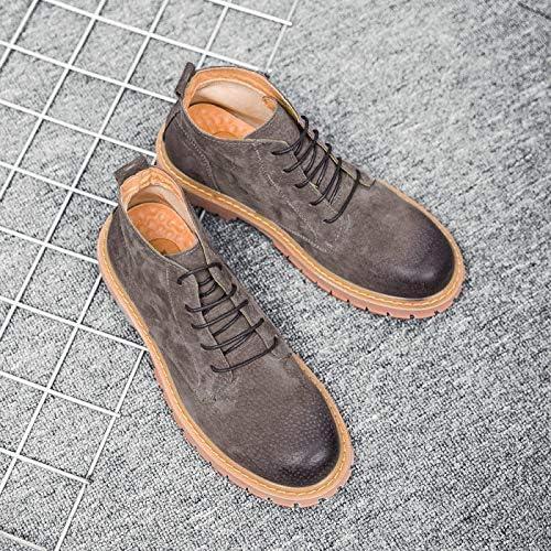 LOVDRAM Bottes Homme Chaussures Mode Martin Bottes pour Hommes Bottes en Cuir Chaussures Vintage pour Hommes Chaussures à La Mode pour Outils Décontractés