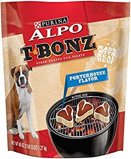 ALPO T-Bonz Porterhouse Flavor Steak-Shaped Dog Treats 45 oz. Bag