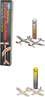 Guillow Balsa Wood Airplane Set - 3 Balsa Airplane Kits in One Set - Flying Machine, Jetfire Twin Pack, and Sky Streak Twin Pack by Guiloow