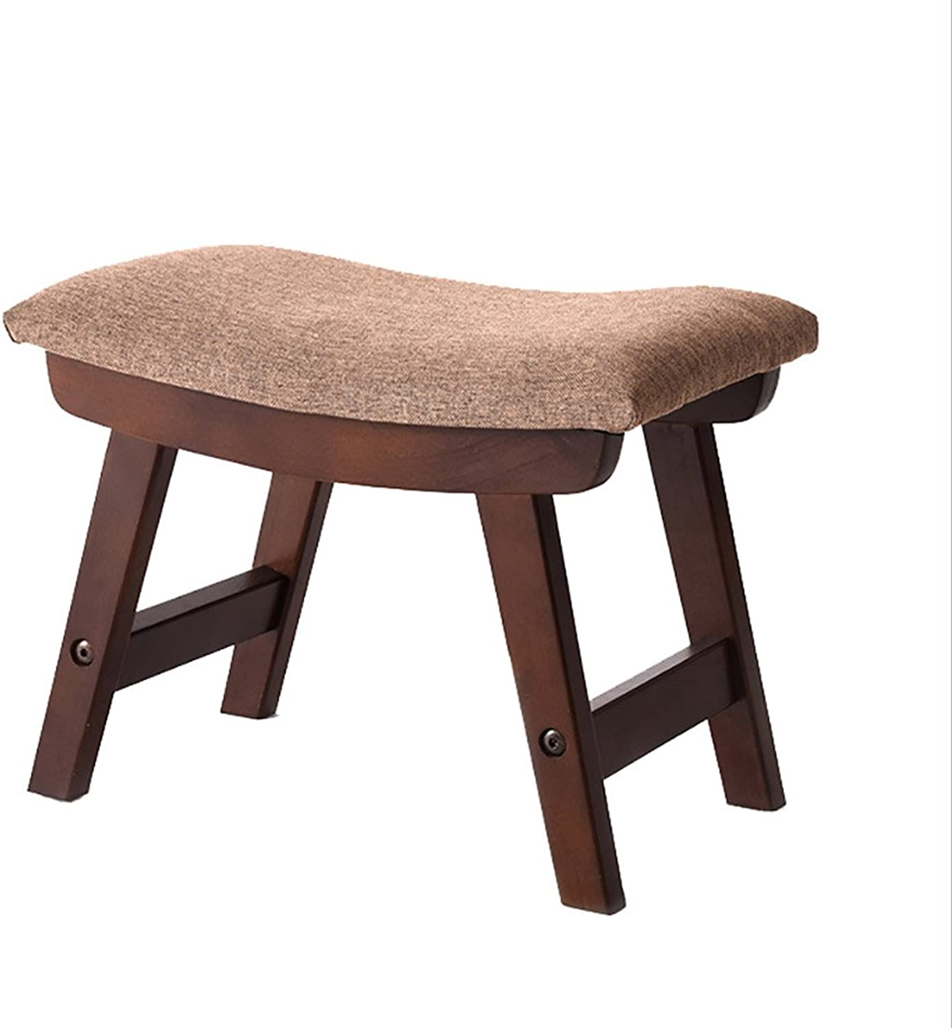 Stool Chair Fabric Stool Fashion Creative shoes Stool Stool Home Bench Living Room Simple Stool Solid Wood Sofa Stool (color   A)