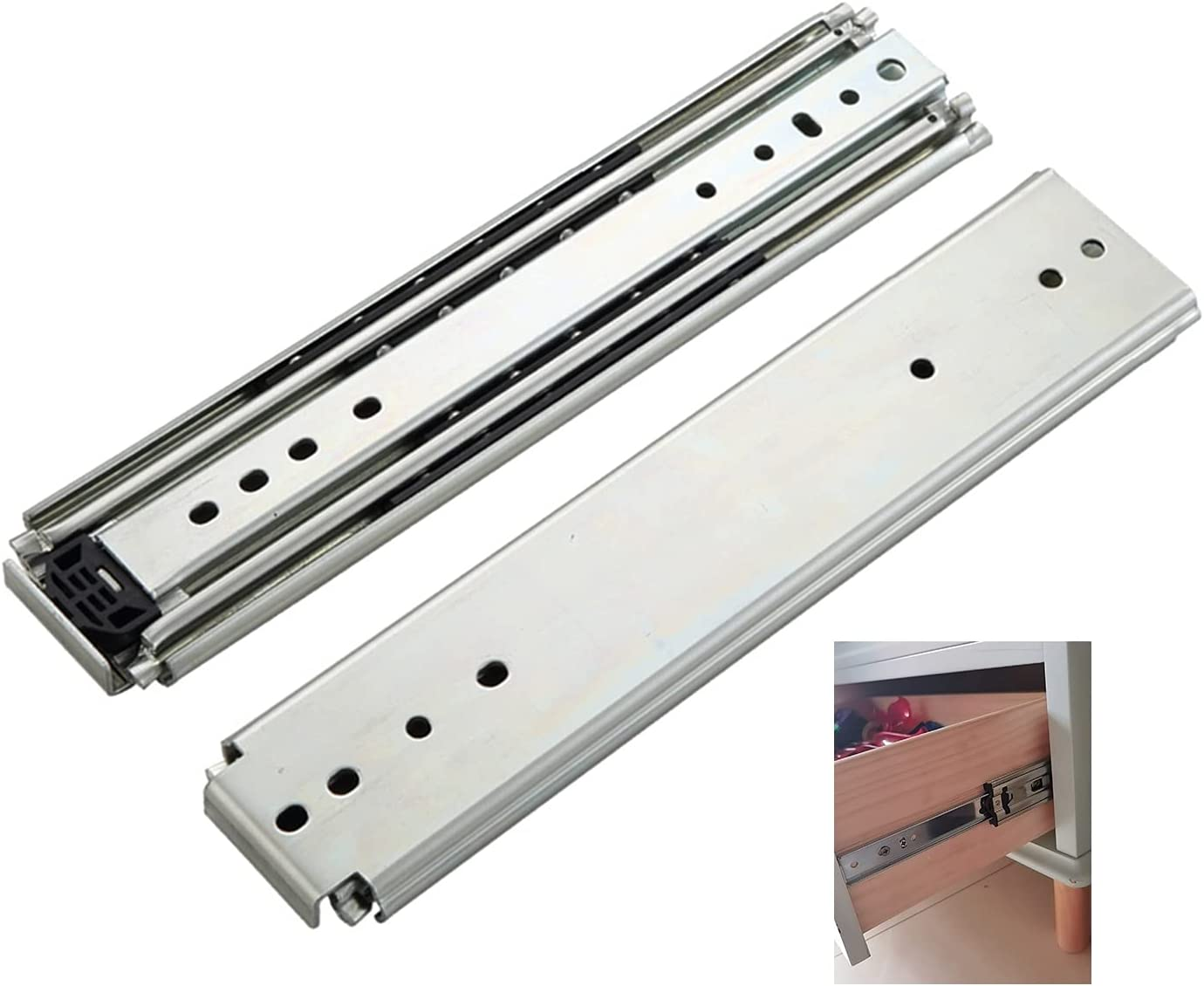 Free Shipping New Drawer slide Rails 10-56 inches 1 Fully Exten favorite Heavy-Duty Pair