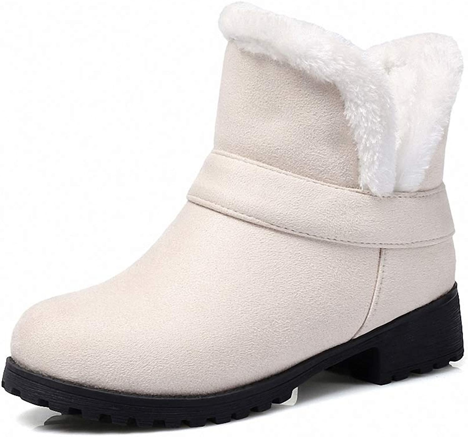 Womens Backpacking Boots Large Size 30-48 Slip on Comfortable Women shoes Woman Winter Warm Plush Woman Snow Boots Warm Fur Ankle Boots Women