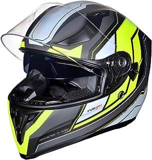 Motorradhelm Integralhelm rueger RT 826 Motorrad Roller Quad Helm, Farbe:Black Neon, Größe:XL (61 62)
