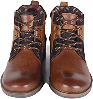 Outdoor Waterproof Boots Men's Ankle Boots with Leather Locomotive Shoes and Military Boots