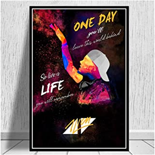 Avicii Legend DJ Music Singer Star Modern Abstract Poster Prints Paintings Art Canvas Wall Pictures for Living Room -50x70cm No Frame