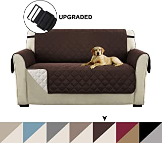 Turquoize Reversible Loveseat Covers for Dogs, Brown Couch Covers for Dogs, Pet Cover for Loveseat, Extra Large Loveseat Slipcover & Couch Slipcover Perfect for Dogs (Oversize Loveseat, Brown/Beige)