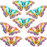 8 Pezzi Palloncini Farfalla Colorati Fogli Palloncini Farfalla di Alluminio Palloncini in Mylar per Decorazioni di Feste a Tema Farfalla Matrimoni Compleanni Baby Shower(Rosa, Blu)