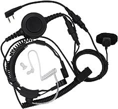 Tenq Throat Mic Headset with Finger Ptt Compatible for Kenwood Radios Tk-3206 Tk-3207 Baofeng Radio Uv-5r