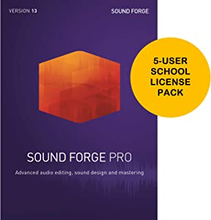 MAGIX Sound Forge Pro 13 5-User School License [Download Card] - Audio Editing, Recording, Restoration and Mastering