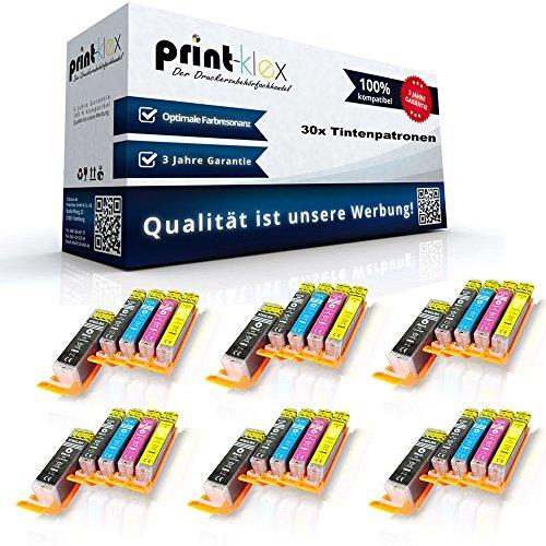 30x compatibele inktpatronen voor Canon PixmaTS9050 PixmaTS9050Series PixmaTS9055 PGI 570 CLI 571 Pigment Black Cyan Magenta Geel - Easy Light Serie