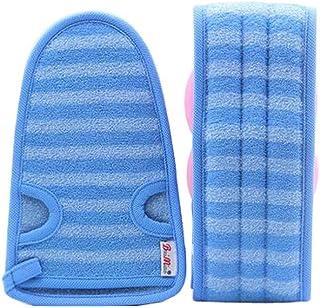 2 Of Soft Bath Mitts Exfoliating Gloves Bath Belts for Female, BLUE