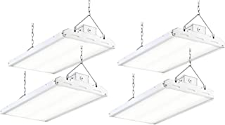 4ft LED Linear High Bay Light 265w (700w MH Equal) 5000K/34,715Lm LED Industrial Workshop Light, Aisle Area Light, Garage, Shop, Stage, 0-10V Dimming, UL, DLC Complied (265w, 4 Pack)