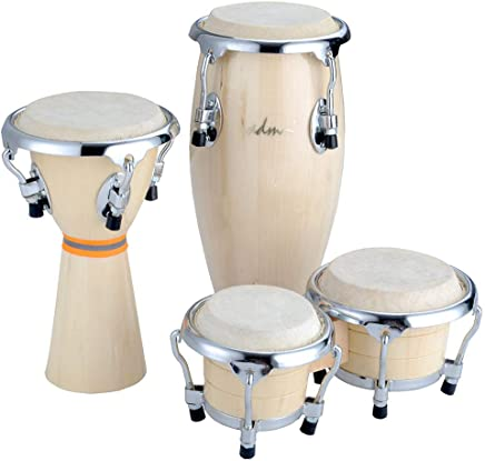 ADM Latin 3pcs Baby Drum Set of Bongo Conga and Djembe Mini BCD Gift