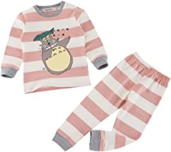 Styles I Love Unisex Baby Toddler 2-pc Totoro Striped Cotton Lounge Set