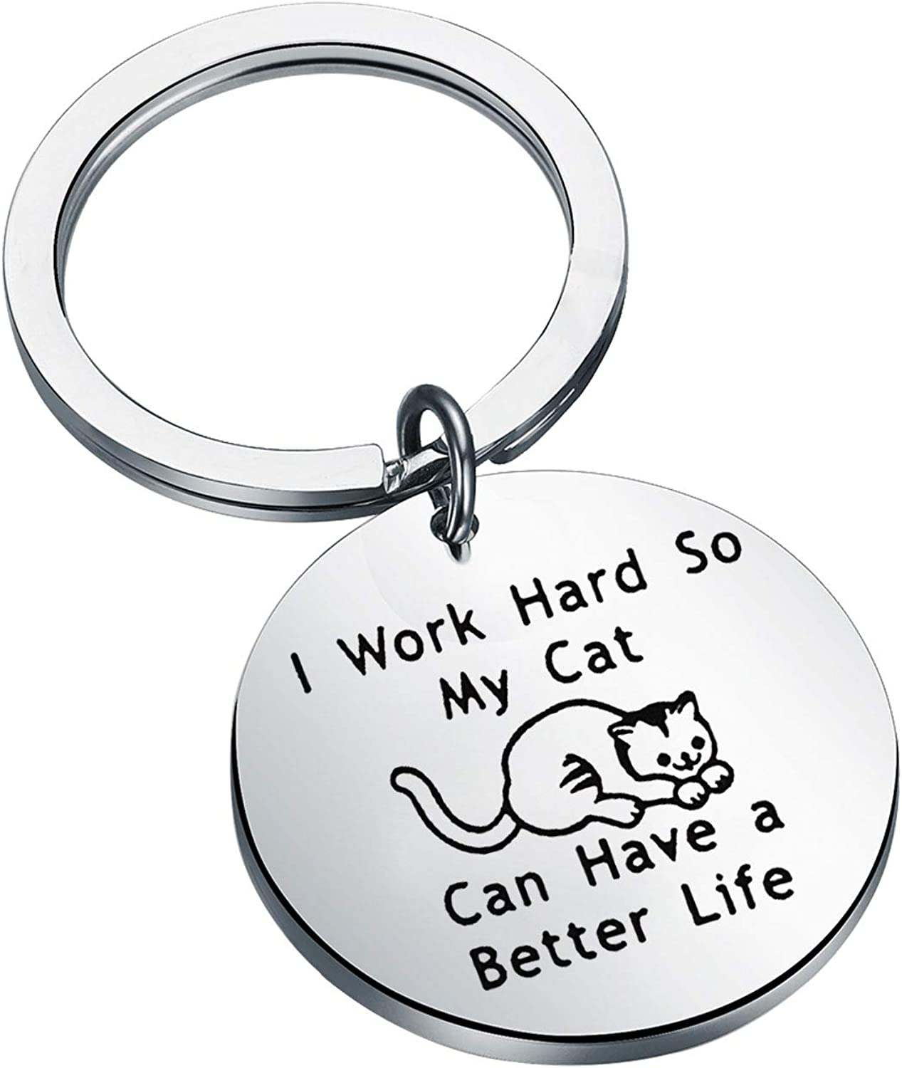 LQRI Cat Lover Gifts I Work unisex Hard Have shop Lif A So Better My Can