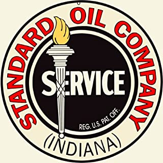 Victory Vintage Signs Standard Oil Company Indiana Service Station Gas Reproduction Sign